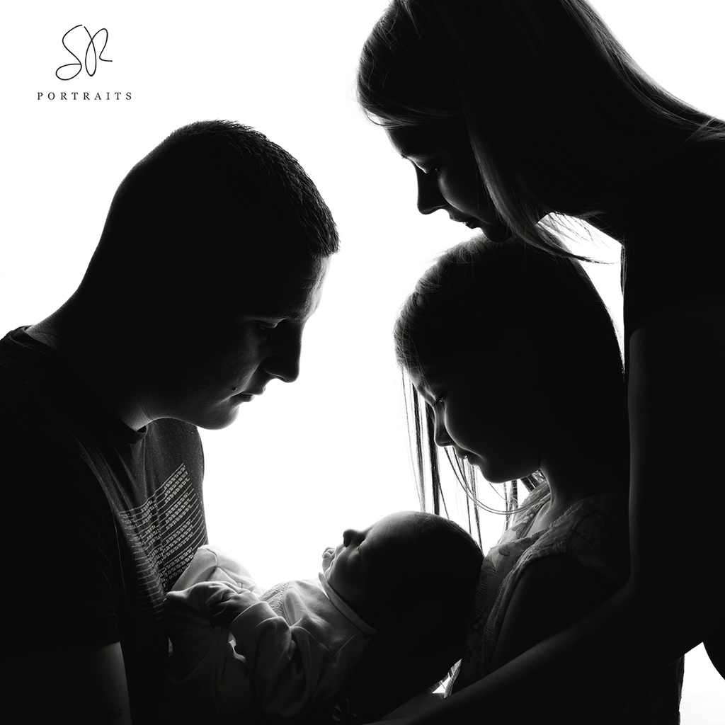 Backlit Silhouette Photo Newborn and Family Coalville, Leicestershire
